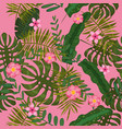 summer seamless exotic floral tropical palm vector image