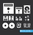 tool computer web icons vector image vector image