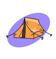 traditional tent vector image