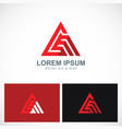 triangle abstract line pyramid business logo vector image vector image