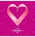 Valentine Background Heart vector image vector image