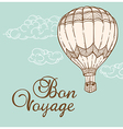 Vintage background with air balloon vector image vector image