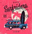 Vintage Surfriders vector image