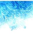 watercolor background feathers and leaves vector image vector image