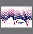 wavy lines drop fluid abstract background 3d vector image