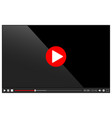 web video player isolated on white vector image vector image