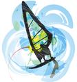 Windsurfing vector image