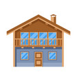 wooden chalet house adversting vector image