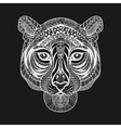 Zentangle stylized White Tiger face Hand Drawn vector image vector image