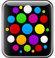 Glossy gadget with colorful circles vector image