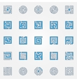 Labyrinth colorful icons vector image