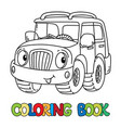 funny jeep or outroader with eyes coloring book vector image