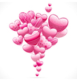 Abstract flying hearts image vector image
