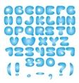 Air blue Alphabet vector image vector image