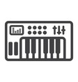 analog synthesizer line icon music and instrument vector image vector image