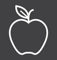 apple line icon food and fruit graphics vector image