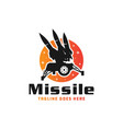 army guided missile logo vector image vector image