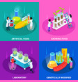 artificial foods isometric design concept vector image vector image