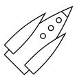 Ballistic rocket icon outline style vector image vector image