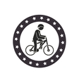 bicycle Extreme sport athlete avatar vector image vector image
