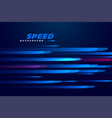 blue speed motion lines background vector image vector image