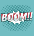 boom comic book pop art background vector image