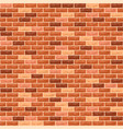 brick wall orange vector image vector image