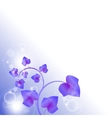 bright purple leaves with bubbles vector image vector image