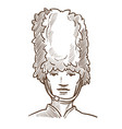 british royal guard isolated sketch portrait uk vector image