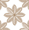 Brown Hand Drawn Floral Design vector image