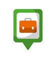 business briefcase social media square pointer web vector image