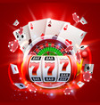 casino 3d cover vector image vector image