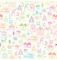 christmas childish seamless retro pattern vector image vector image