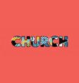 church concept word art vector image vector image