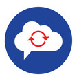 cloud computing concept sync icon vector image