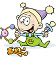 cool baby - funny vector image vector image