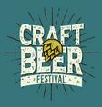 craft beer festival typographic label design