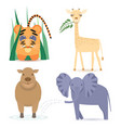 cute africa animals vector image vector image