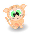 cute little kitten cartoon vector image vector image