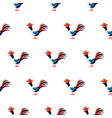 cute roosters seamless pattern on white vector image