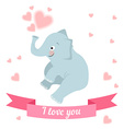 drawn by animal elephant declaration of love vector image vector image