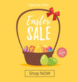 easter sale banner vector image vector image