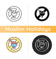 fasting icon vector image