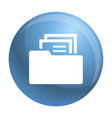 file folder icon simple style vector image vector image