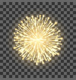 fireworks on transparent background festival gold vector image
