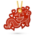 Fish and hearts vector image vector image