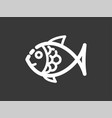 fish icon sign symbol vector image vector image