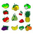 fruits icons fruits icons art fruits icons web vector image