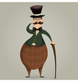 gentleman with monocle and stick vector image vector image
