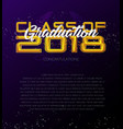graduation label template of announcement vector image vector image